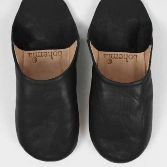Ladies Black Moroccan Babouche Slippers