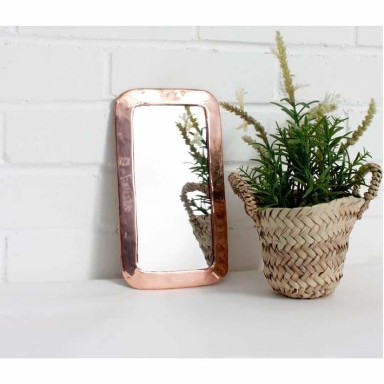 Moroccan Rose Rounded Rectangle Mirror - Pink Pig