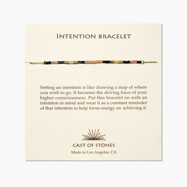 Peach  Intention Bracelet - Cast of Stones