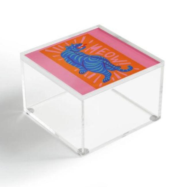 Meow Acrylic Box - Pink Pig