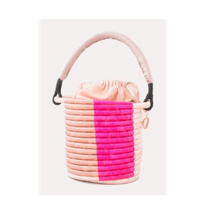 Indego Africa Lucine Bucket Bag - Pink Pig
