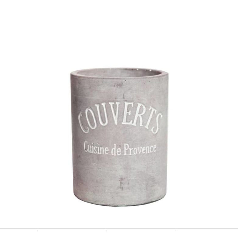 Cement Cutlery Crock