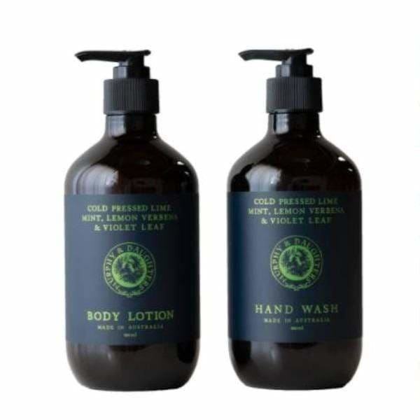 Lime & Lemon Verbena Body Wash Set
