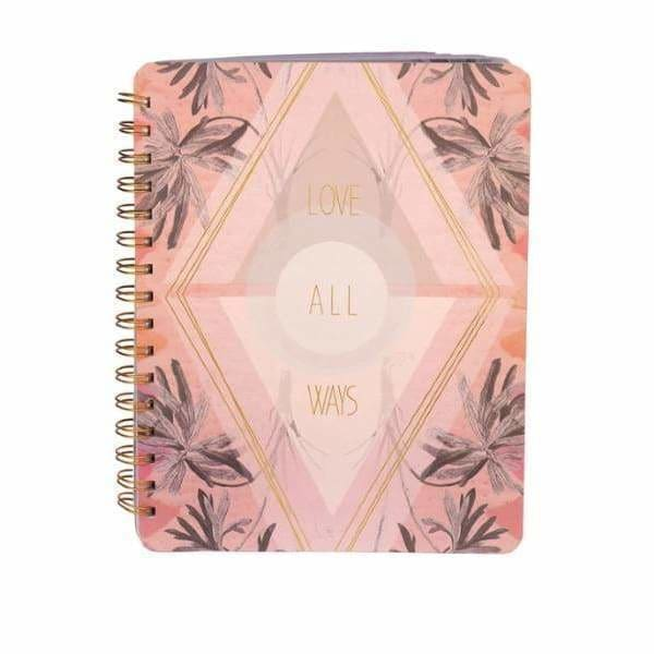 Papaya Art Love All Ways Spiral Notebook - Pink Pig