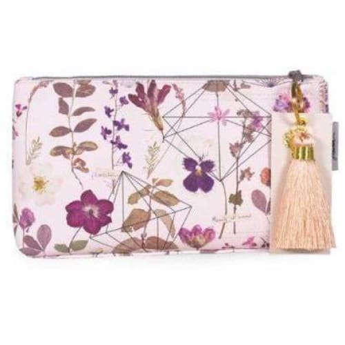 Dreamy Love Garden Papaya Art Accessory Oilcloth Satin Pouch