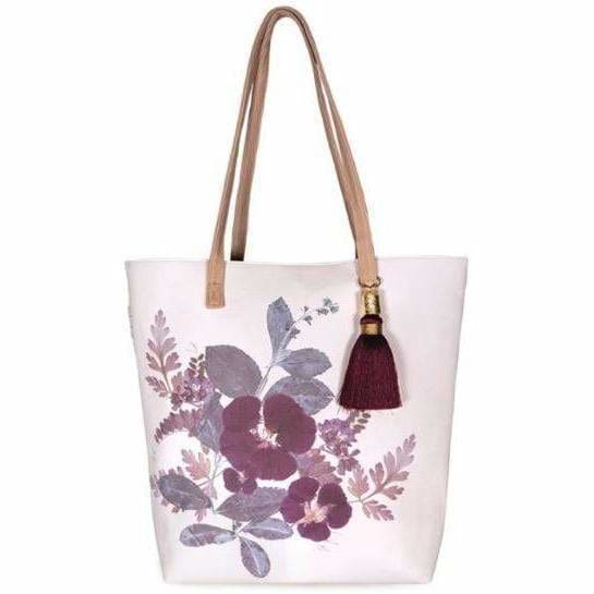 Papaya Art Plum Leaves Tote