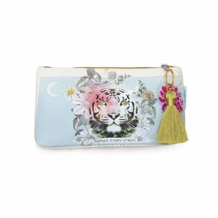 Papaya Art Stripes Accessory Pouch - Pink Pig