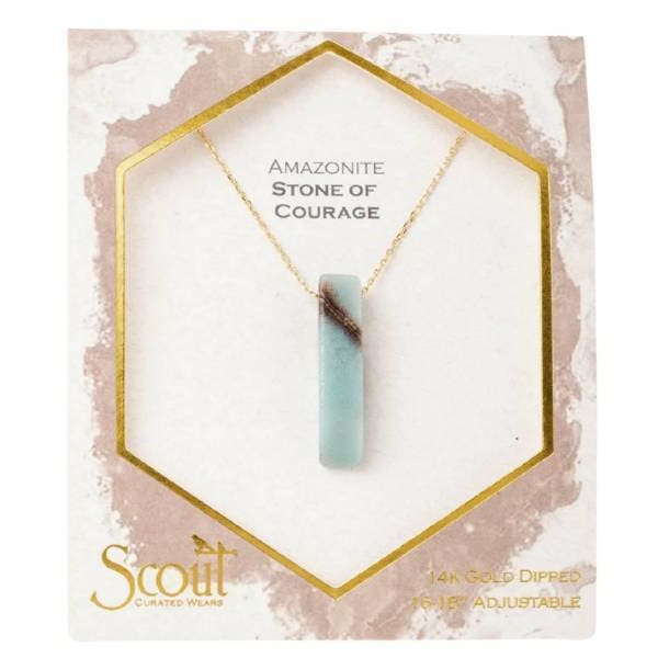 Amazonite Stone Point Necklace