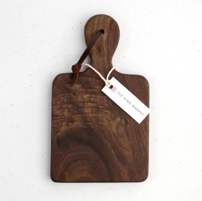 Artisan Walnut Cheese Board - Pink Pig
