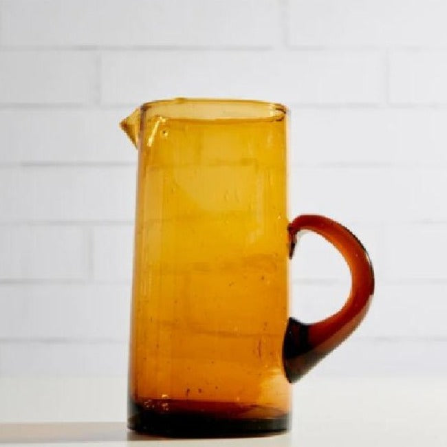 Moroccan Amber Pitcher
