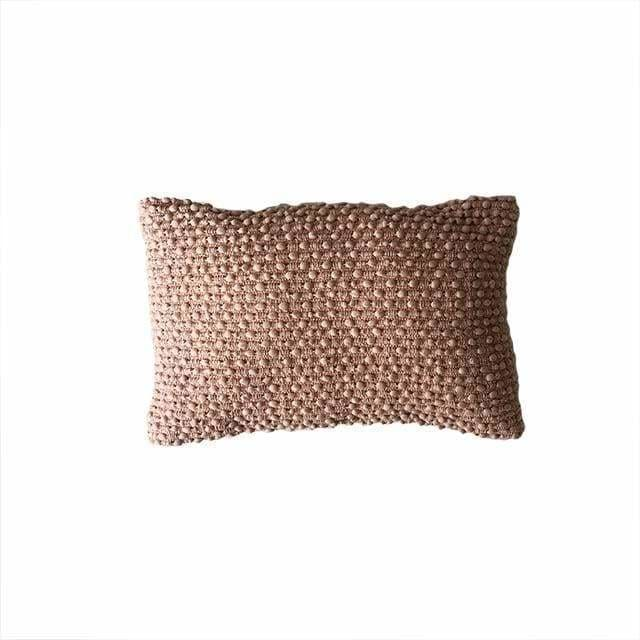 Boho Pink Textured Pillow - Pink Pig