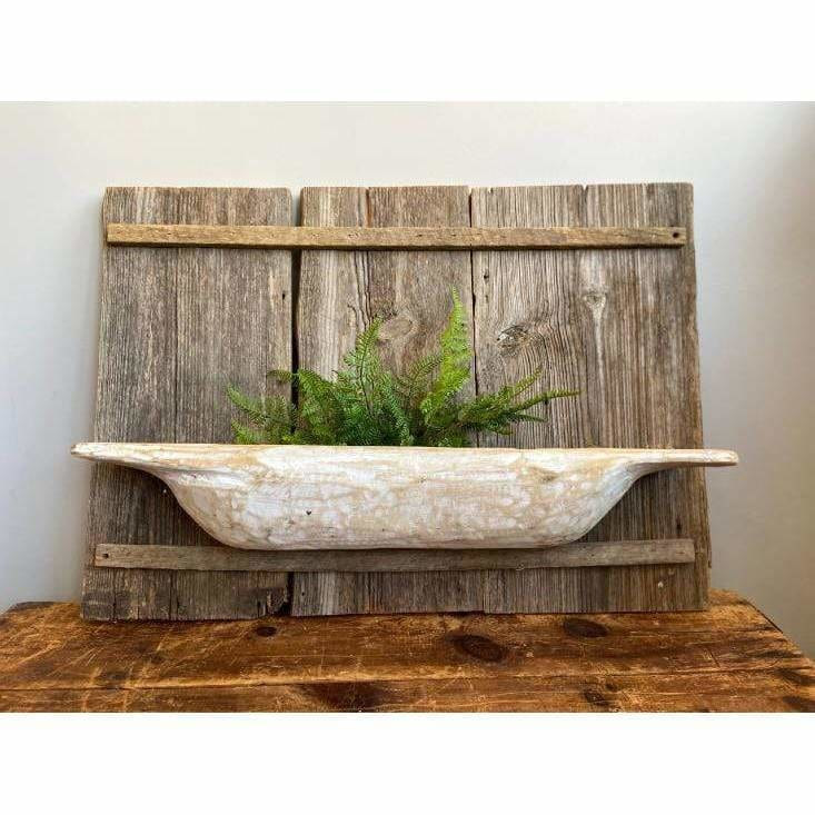Rustic Farmhouse Barnwood Shelves - Pink Pig