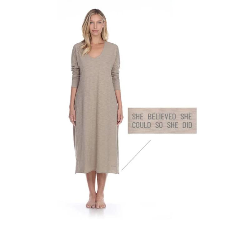 Poetically Correct Long Sleep Dress
