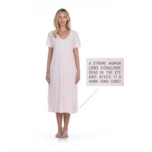 Poetically Correct Soft Comfortable 100% Pima Cotton Slub Pink Dress