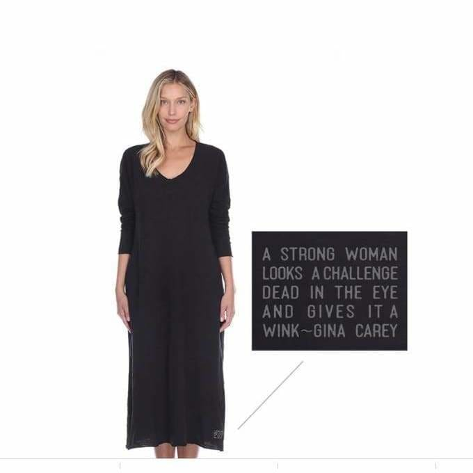 Poetically Correct Long Sleep Dress - Pink Pig