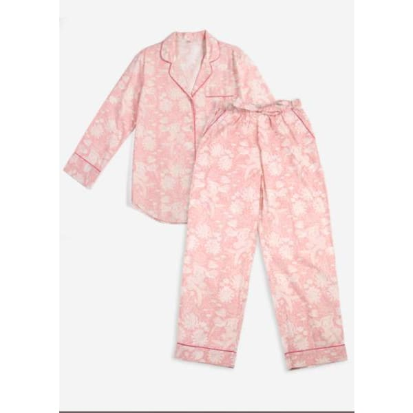 Printfresh Mermaid Long Pajama Set - Pink Pig