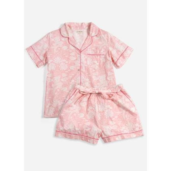 Printfresh Lily Mermaid Short Sleep Set - Pink Pig