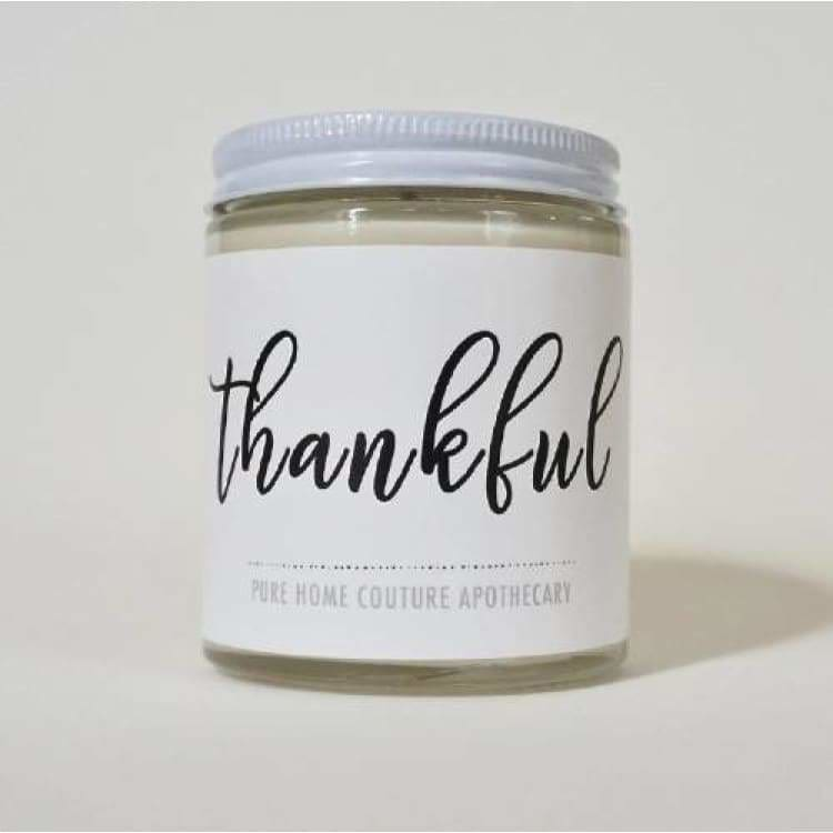 Thankful Vanilla Sentiment Candle - Pink Pig