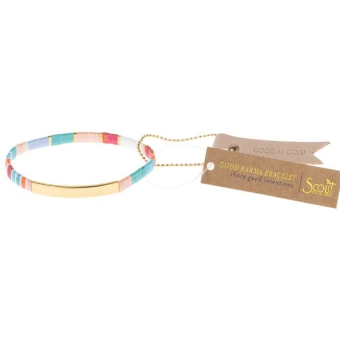 Good As Gold Good Aqua Karma Bracelet