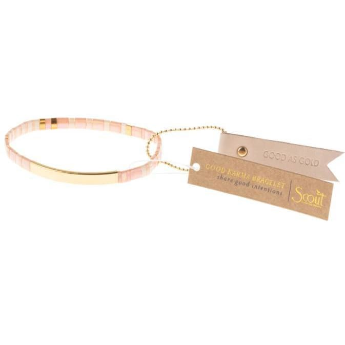 Good As Gold Good Blush Karma Bracelet - Pink Pig