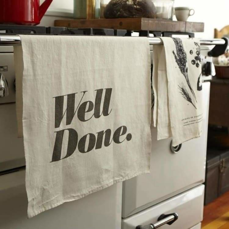Linen Kitchen Towels - Sir/Madam - Pink Pig