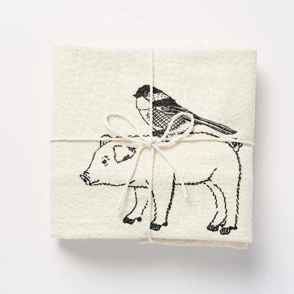 Pig & Bird Flour Sack Towel