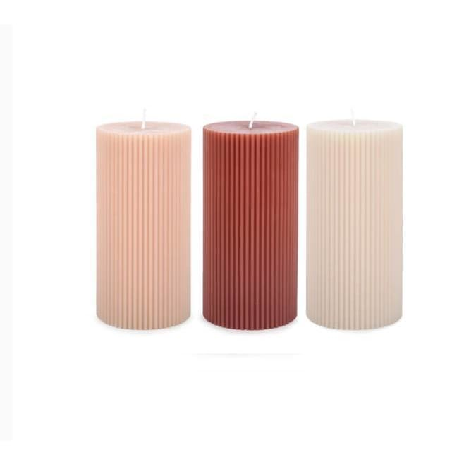 Floral Society Fancy Pillar Candles - Pink Pig