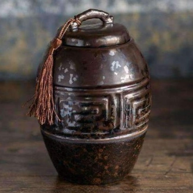 Ancientry Ceramic Pot With Tassel