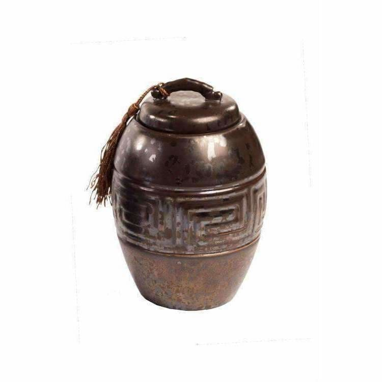 Ancientry Ceramic Pot With Tassel - Pink Pig