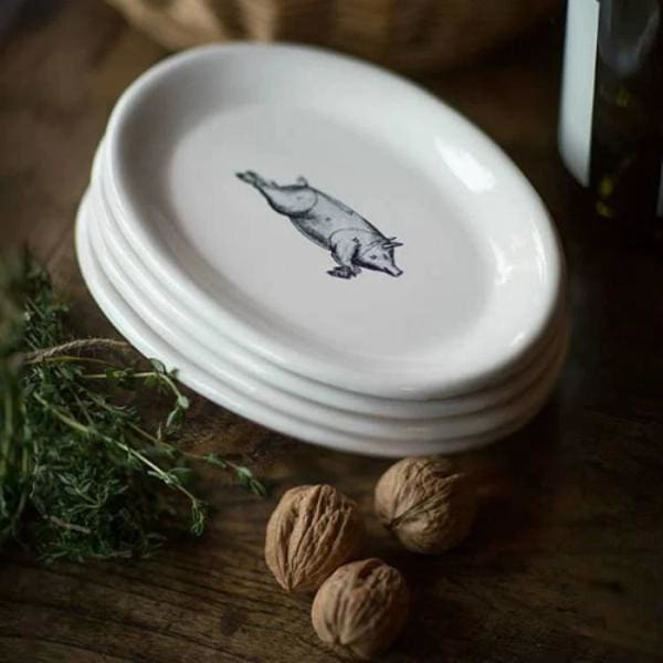 Oval Pig Plates