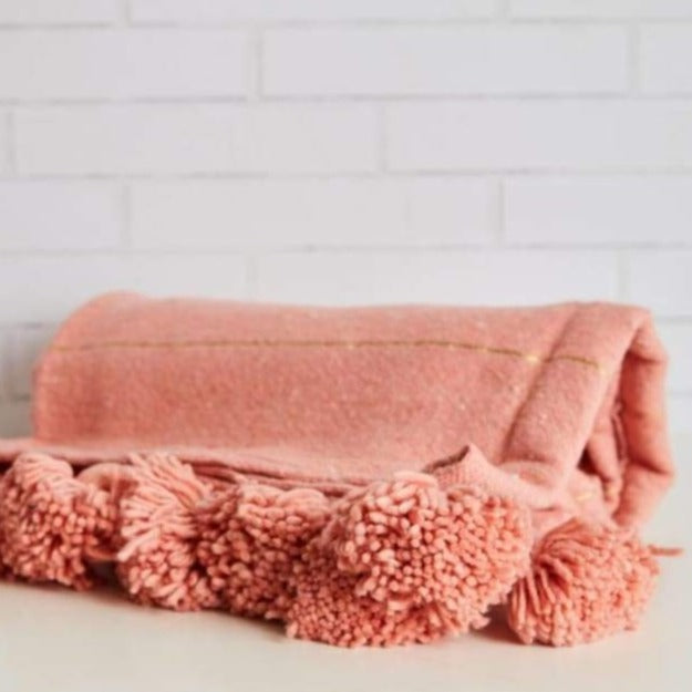 Moroccan Blankets - Pink Pig