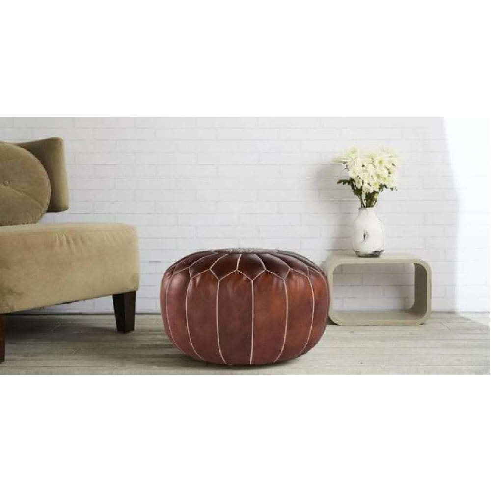 Moroccan Poufs - Pink Pig