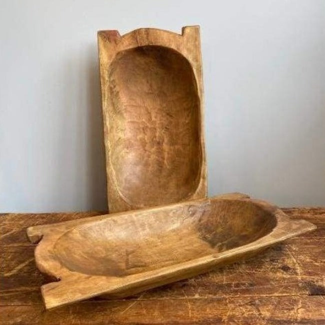 Euro Rustic Wooden Dough Bowl