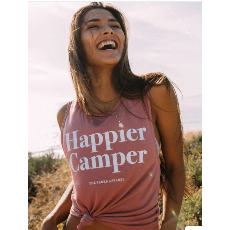 Wondery Happier Camper Tank - Pink Pig
