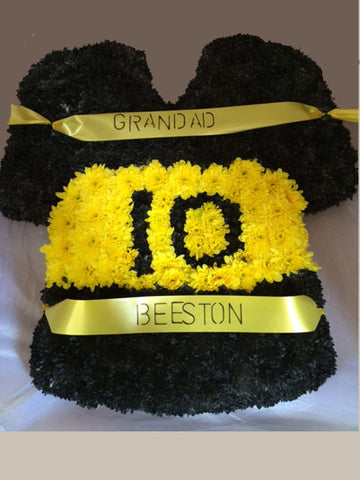 Football or Rugby Shirt Tribute - Alan Brown Flowers