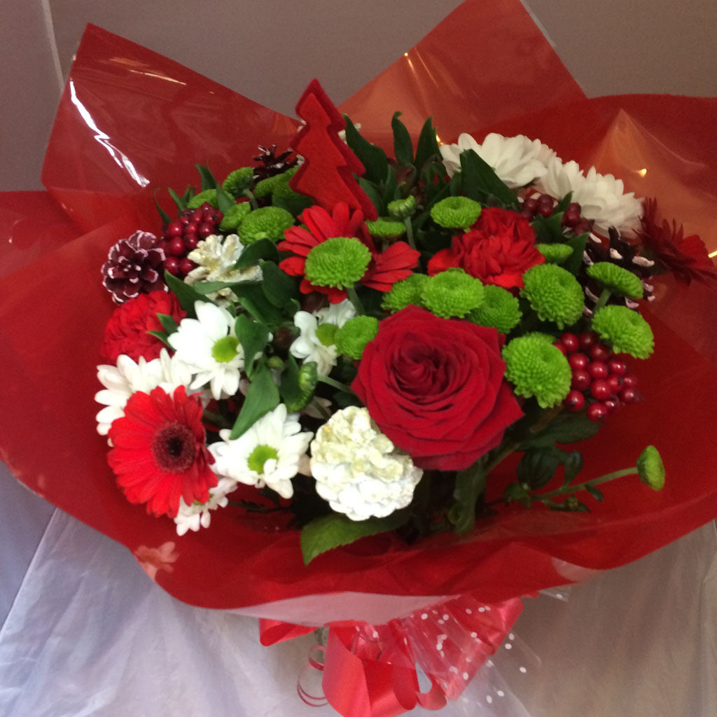 Christmas Bouquet - Alan Brown Flowers Leeds