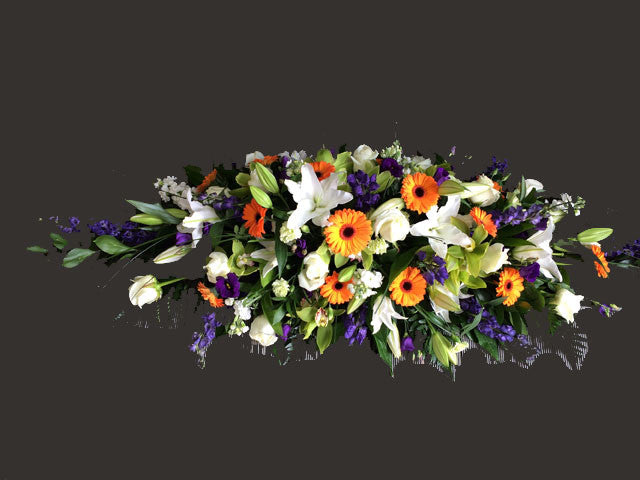 Mixed Coffin Spray - Alan Brown Flowers