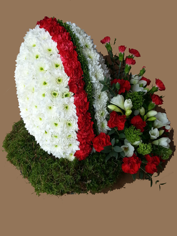 Rugby ball tribute - Alan Brown Flowers