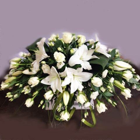 Cream Rose Funeral Spray - Stunning