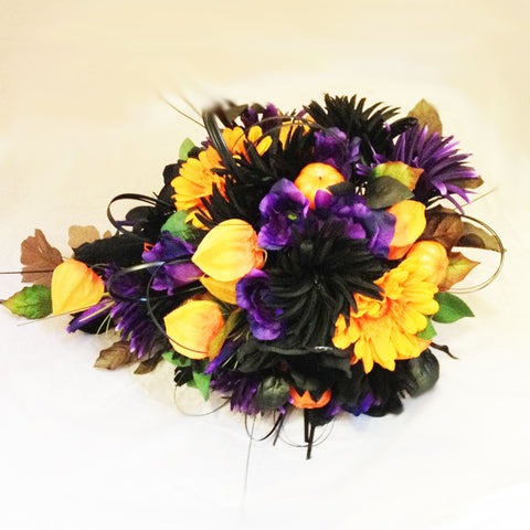 Seasonal Purple and Yellow Arrangement - Alan Brown Flowers Leeds