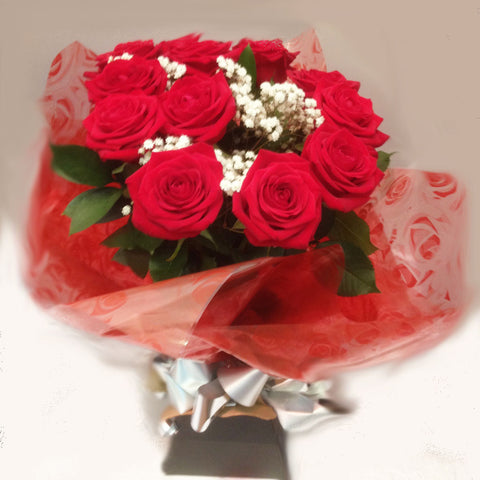 Seasonal Red Rose Arrangement