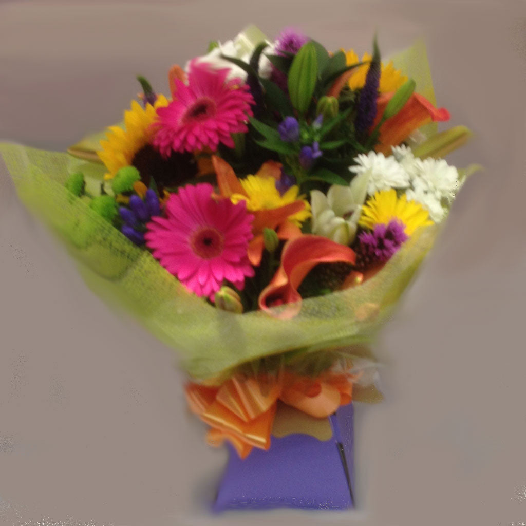 Seasonal Vibrant Mixed Hand Tied - Alan Brown Flowers