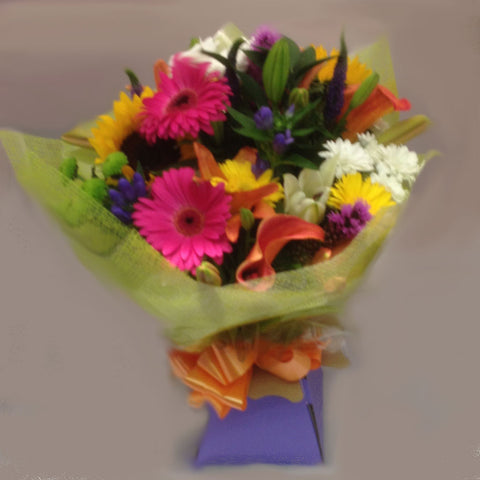 Seasonal Vibrant Mixed Hand Tied - Alan Brown Flowers Leeds