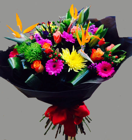 Tropical Exotic Bouquet - Alan Brown Flowers Leeds