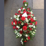 Red & White Mixed Funeral Spray