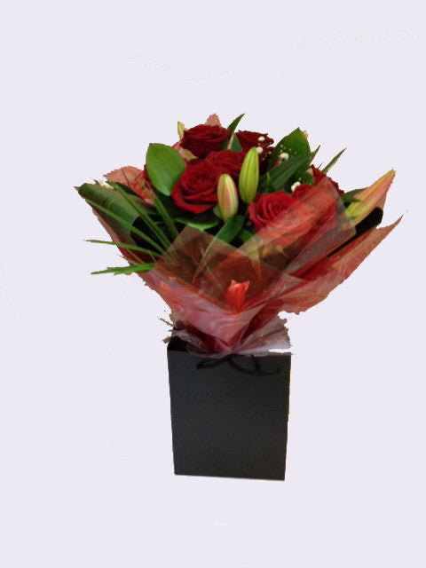 Rose & Lily hand-tied Bouquet - Alan Brown Flowers Leeds