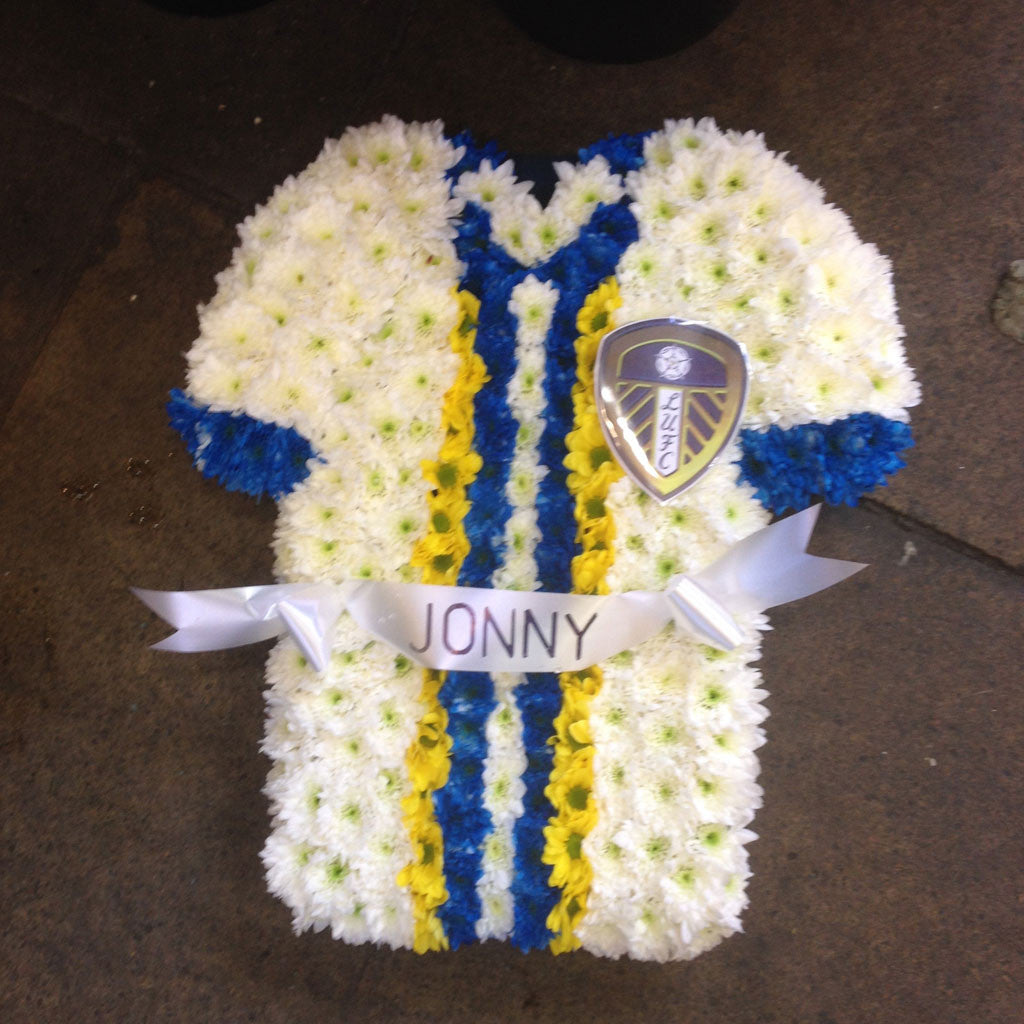 tribute flowers leeds united shirt abflowers leeds