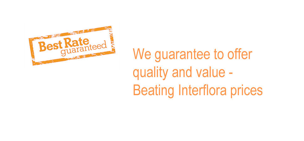 We guarantee to offer quality and value beating Interflora prices