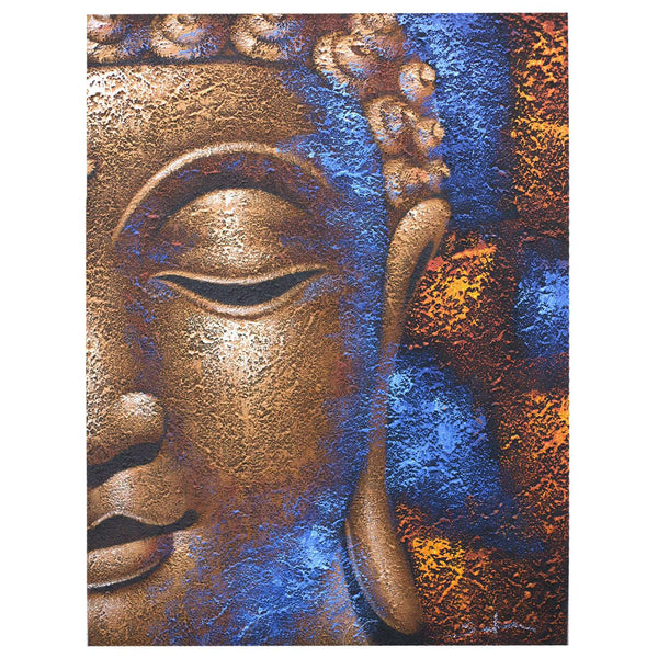 Buddha Painting Copper Face - handmade items, shopping , gifts, souvenir