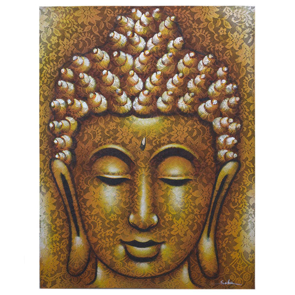 Buddha Painting Gold - handmade items, shopping , gifts, souvenir